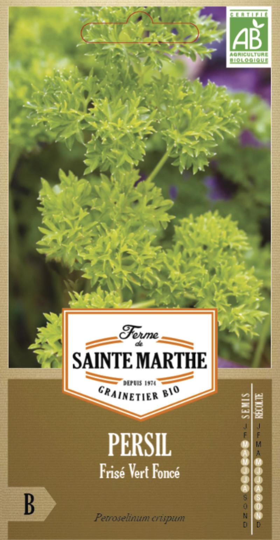 persil frise vert fonce bio la ferme de sainte marthe graine semence aromatique sachet semis - Voir en grand