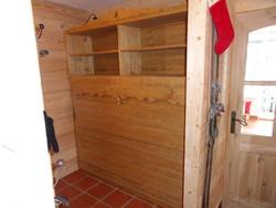 lit relevable horizontal avec rangement et table escamotable - Lit relevable, lit armoire - VERCORS LITERIE  - Voir en grand