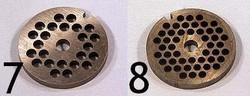 N°7 Grille épaisse - N°8 Grille moyenne pièces détachées Kenwood  hachoir AT261 Prospero KM262-KM266 - Voir en grand
