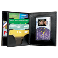 porte carte 4281 gk 3 volets emplacement médaille nouvelle carte pro police gendarmerie securite