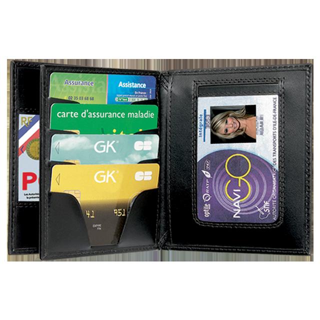 porte carte 4281 gk 3 volets emplacement médaille nouvelle carte pro police gendarmerie securite - Voir en grand
