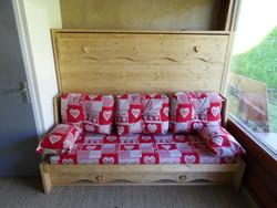 lit relevable avec banquette 16 - Lit relevable, lit armoire - VERCORS LITERIE  - Voir en grand