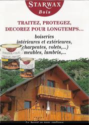 Starwax : bois vernis, lasurés et huilés -  rénovation, entretien des bois - DROGUERIE JOURNET - ALPES COULEURS - Voir en grand