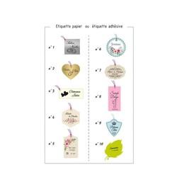etiquettes boite dragées 14 modèles personnalisables à souhaits  - Voir en grand