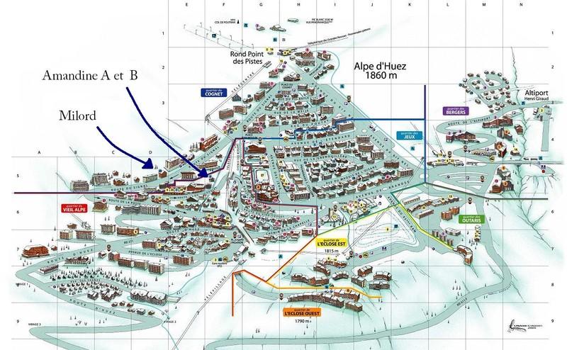 ACCES DE NOS LOCATIONS SUR PLAN STATION - GEOLOCALISATION SUR PLAN STATION - Chalet Amandine - Voir en grand