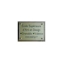 plaque plexi or, Ecole d'Art Grenoble, graveur amalgame à grenoble - Voir en grand