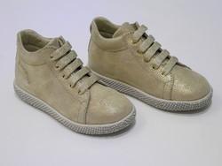 Chaussures montante bébé fille or