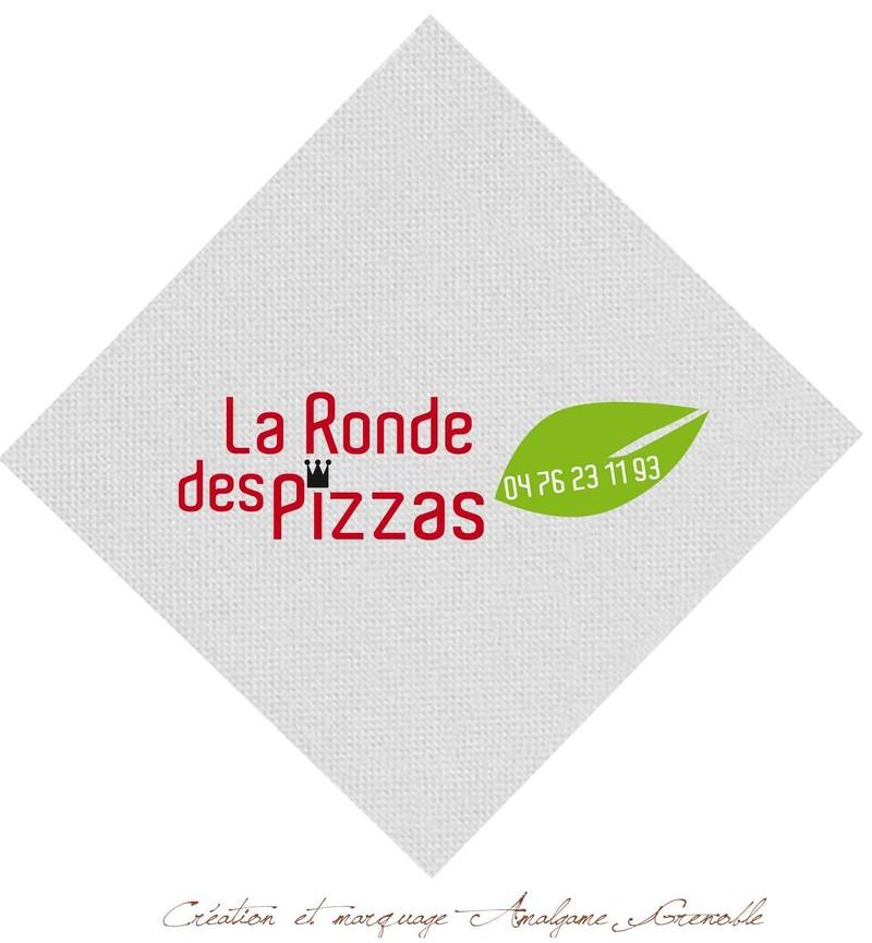 serviette papier jetable, personnalisé, Ronde des Pizzas, décor vos tables de fêtes, Grenoble - Voir en grand