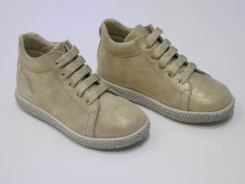 Chaussures montante bébé fille or - Voir en grand