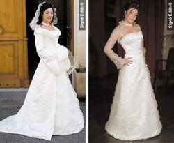 robe de mariée modulable FLOCONNELLE  France - Les robes de mariée avec bustier - Création Signé Edith  - Voir en grand
