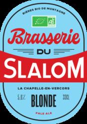 SLALOM BLONDE BIO 33CL - BIERES ARTISANALES RHONE ALPES - La bulle grenobloise - Voir en grand