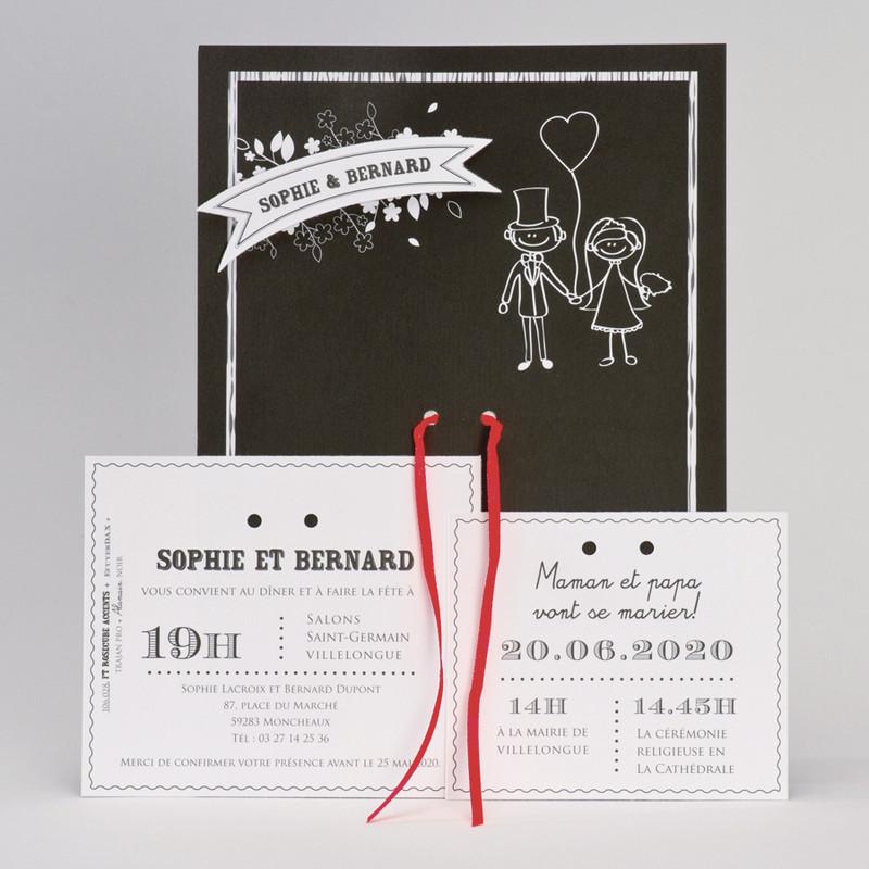 Faire part mariage, Carte invitation, grenoble - Voir en grand