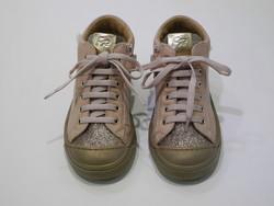 Chaussure montante cuir paillette
