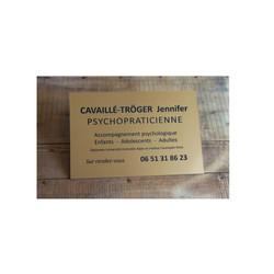 plaque economique en PCV Or, plaque Psychopraticienne amalgame à grenoble - Voir en grand