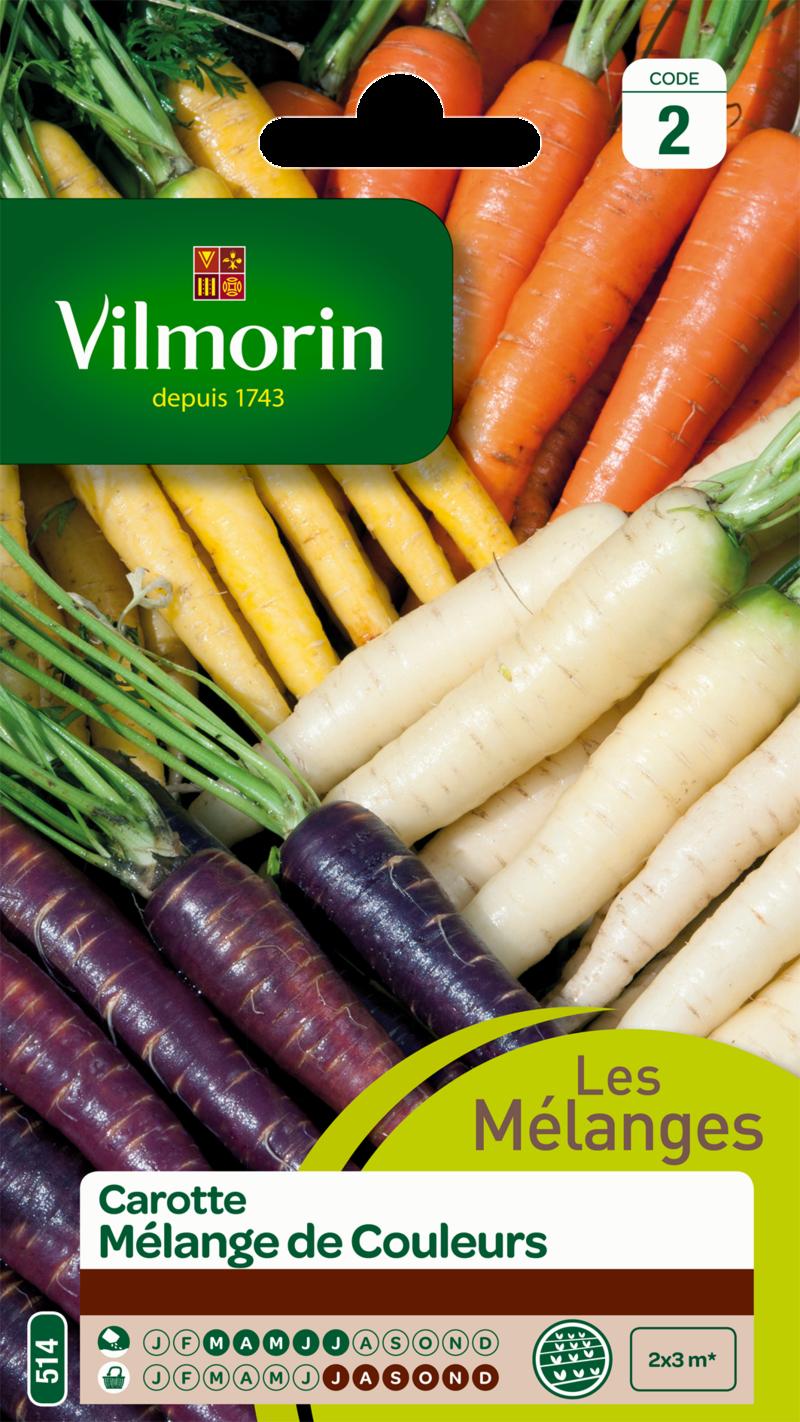 carotte melange de couleurs vilmorin graine semence potager sachet semis - Voir en grand