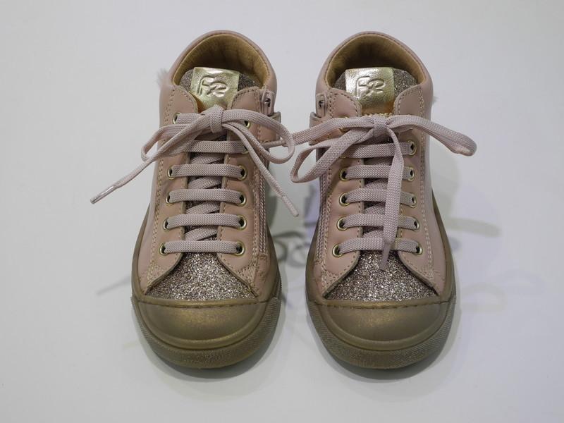 Chaussure montante cuir paillette  - Voir en grand