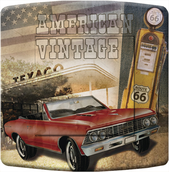 interrupteur d cor usa route 66 american vintage deco us country. Black Bedroom Furniture Sets. Home Design Ideas