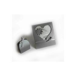 Coeur decoupé & boite à dragee, création amalgame imprimerie grenoble - Voir en grand
