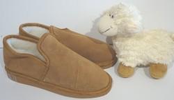 Chaussons-pantoufles charentaise en mouton - Chaussons-pantoufles en peau et laine - La Petite Boutique - Voir en grand