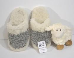 Pantoufles-Mules pure laine de mouton - Mules peau et laine - La Petite Boutique - Voir en grand
