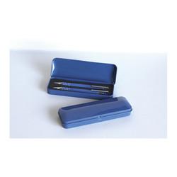 Ecriture de Bureau Coffret métal 2 stylos, Bleu personnalisé, Memphis, marquage amalgame Grenoble
