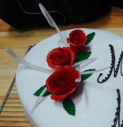 Décor fleur en Pâte à Sucre - Voir en grand