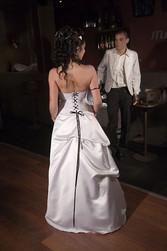 Robe de mariée scintille version soirée dos - Voir en grand
