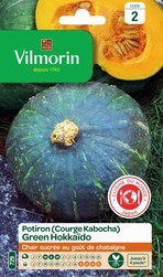 potiron green hokkaido courge kabocha vilmorin graine semence potager semis sachet - Voir en grand