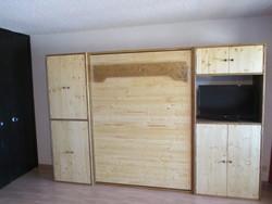 lit relevable avec armoire 21 - lit relevable,lit armoire - VERCORS LITERIE  - Voir en grand