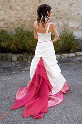 Robe de mariée modulable galaxiel version cérémonie dos - Voir en grand