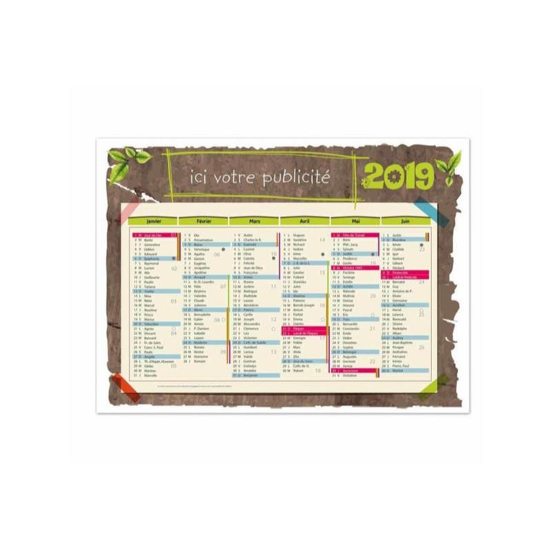 Achat Calendrier 2019.Calendrier Bancaire Publicitaire 2019 Vegetal