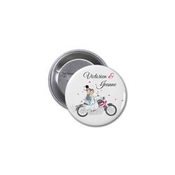 Badge invités mariage Motards, mariés en motard, imprimerie amalgame  grenoble