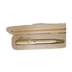 Parure de stylo gravé dans un coffret bois, Graveur amalgame à grenoble - Voir en grand