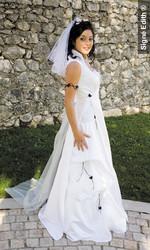 Robe de mariée scintille version cérémonie - Voir en grand