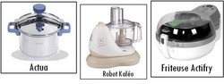 Cocotte minute actua seb, robot culinaire Kaléo seb et friteuse Actifry Seb - Voir en grand