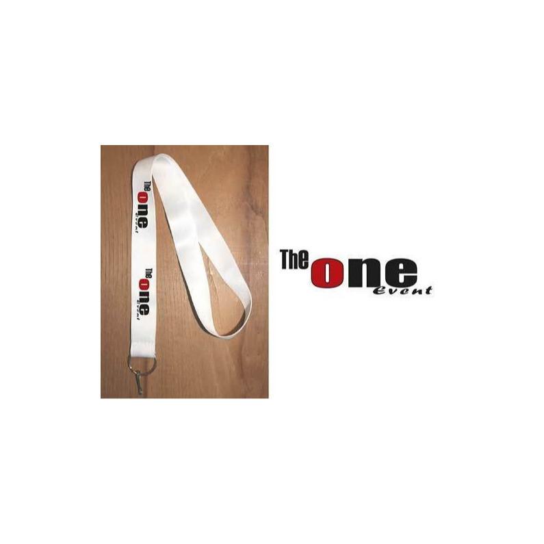 Tour du cou blanc, layard, personnalisés texte, logo, Association, amalgame serigraphe grenoble - Voir en grand