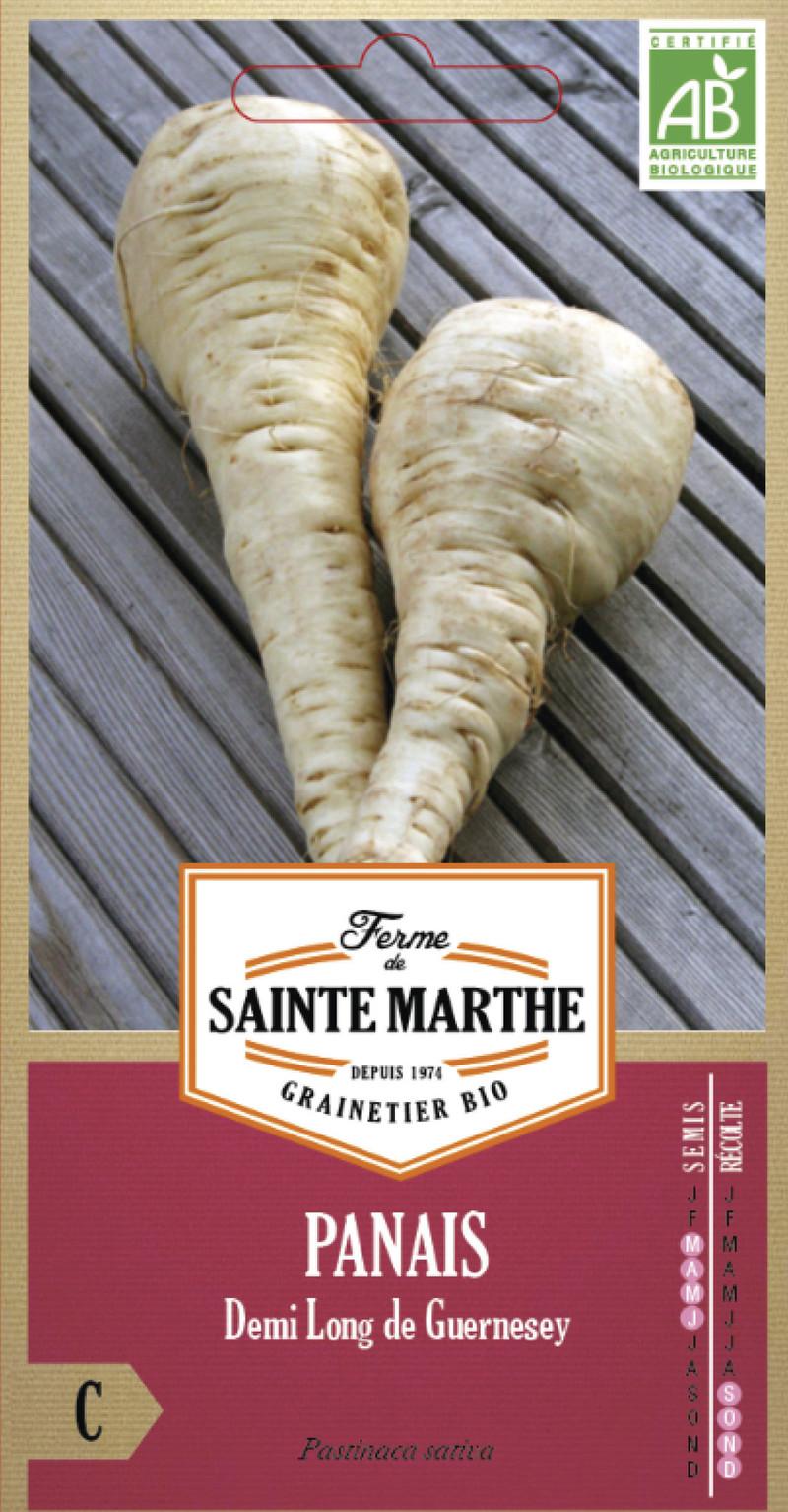 panais demi long de guernesey bio la ferme de sainte marthe graine semence potager sachet semis - Voir en grand