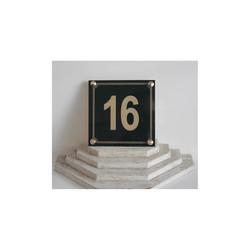 plaque plexi noir,Numéro de rue, plaque immeuble, maison, plexiglas rouge, amalgame graveur grenoble - Voir en grand