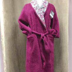 Peignoir croisé femme 100% pure laine VAL D'ARIZES - Voir en grand