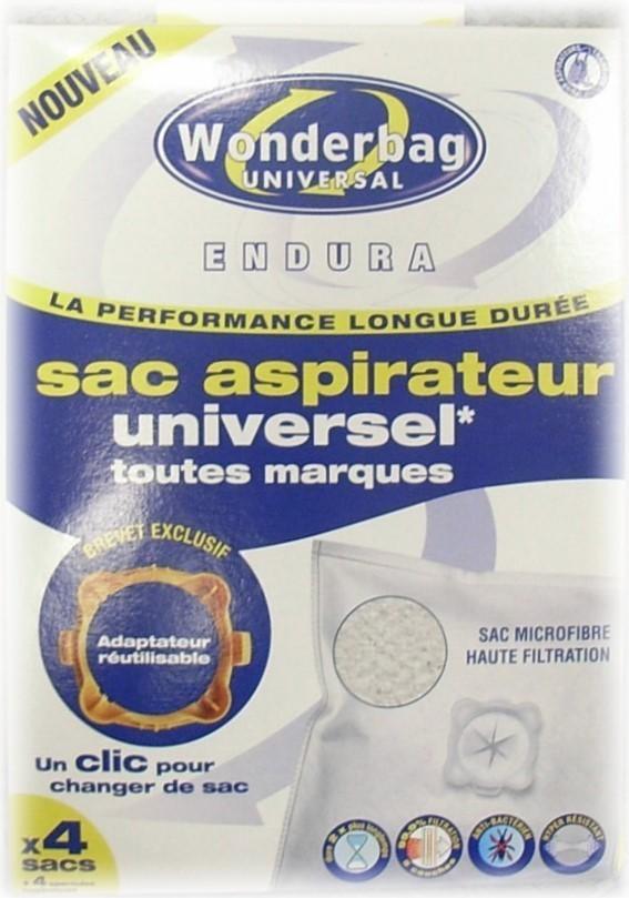 Sacs aspirateur universel Endura  Wonderbag Rowenta - Pièces détachées et accessoires Rowenta - MENA ISERE SERVICE - Pièces détachées et accessoires électroménager - Voir en grand