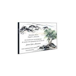 la Montagne en aquarelle, remerciements deces, carte condoléances, amalgame imprimeur grenoble - Voir en grand