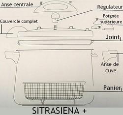 Pièces détachées cocotte Sitrasiena + Sitram - Voir en grand