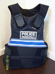 gilet pare balles gk protection classe 3a taille xl occasion marquage police municipale 3 bandes