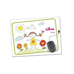 Tapis de souris paersonnalisé dessin enfant, cadeau, amalgame imprimeur graveur Grenoble - Voir en grand