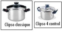 Cocotte minute clipso classique seb et autocuiseur clipso 4 control seb - Voir en grand