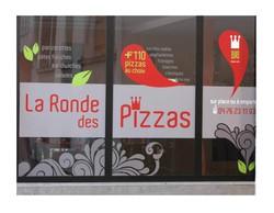 Stickers  logo adhésifs pelliculées brillant création décor, vitrine, véhicule - Voir en grand