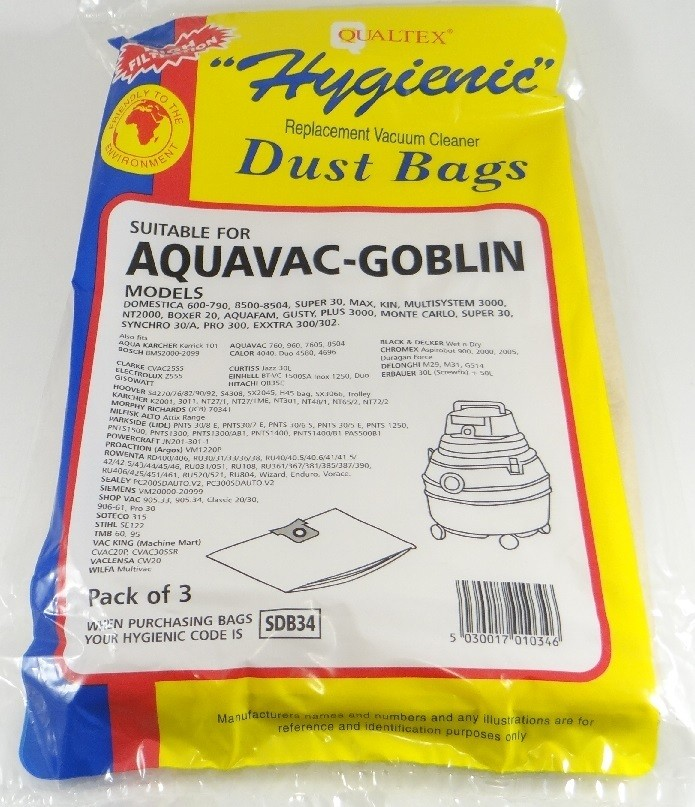 5x Sac-filtre tissus pour aspirateur AQUA VAC 7402 B