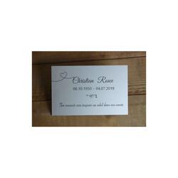 Plaque gravée de columbarium Made in Grenoble, graveur amalgame grenoble - Voir en grand