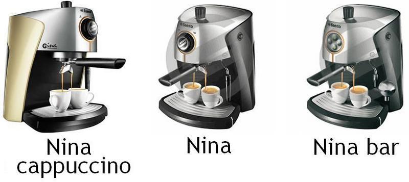 Machine café expresso Nina Bar Cappuccino Saeco - Pièces détachées et accessoires Saeco - MENA ISERE SERVICE - Pièces détachées et accessoires électroménager - Voir en grand