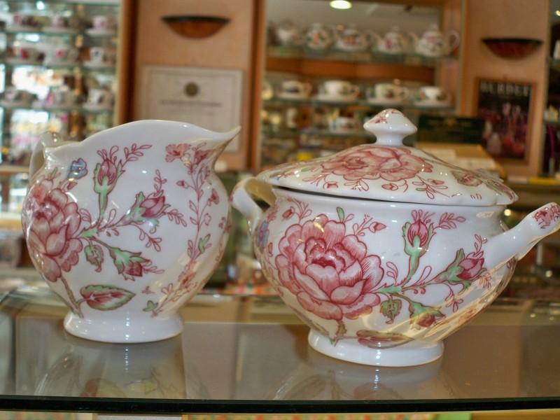 Porcelaine roy kirkham porcelaine rose chintz burdet salon de the - Service vaisselle pas cher ...